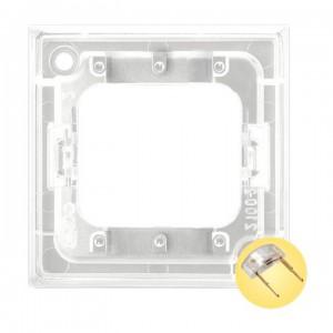 Ospel Aria ZP-4UG - Przezroczysty zespół podświetlający do łączników 3-klawiszowych typu LED w kolorze Złotym - Akcesoria - Podgląd zdjęcia producenta